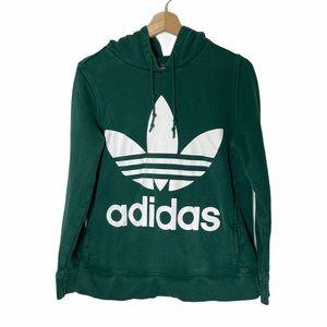 Adidas Trefoil Hunter Green Hoodie Sweatshirt S